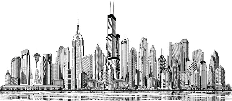 nuova pagina 1 Chicago Skyline Vector Chicago Skyline Vector